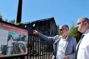 Welsh minister tours Hafod Morfa Copperworks