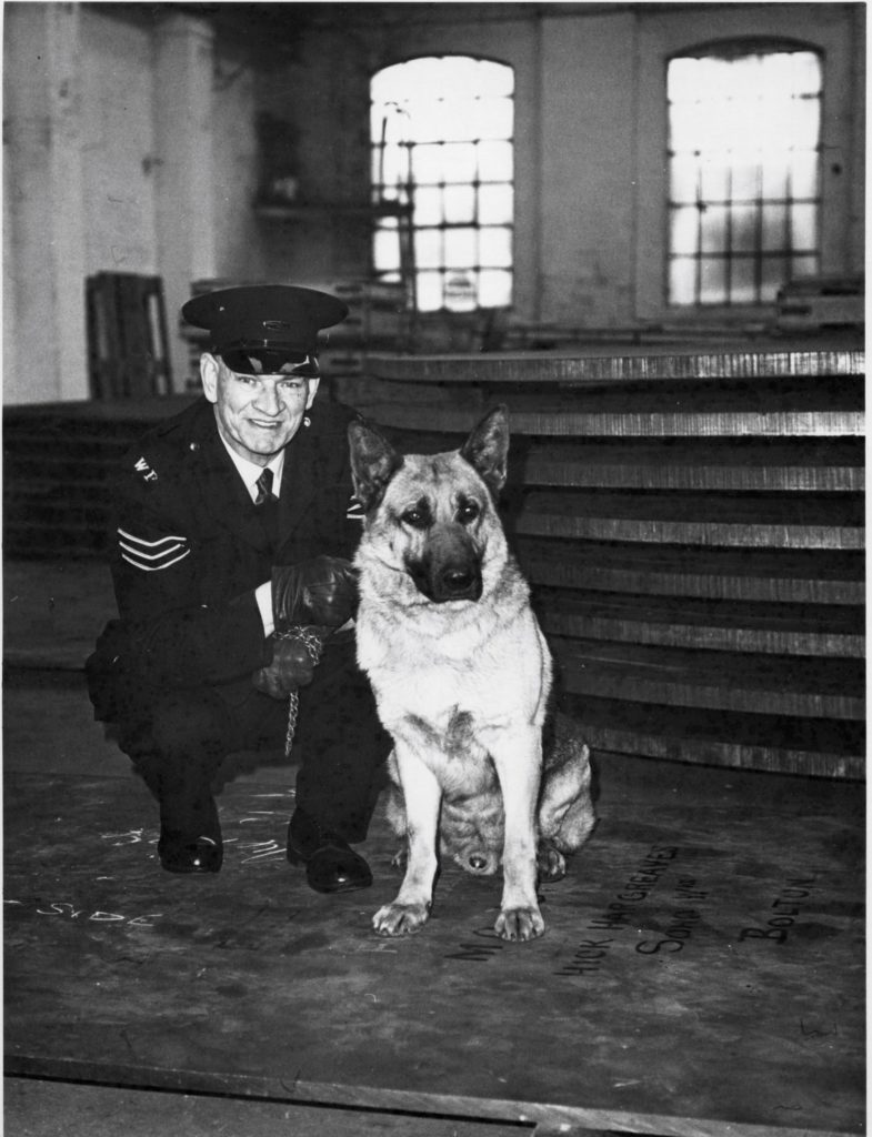 sgt. Jack Richards with dog Gregg